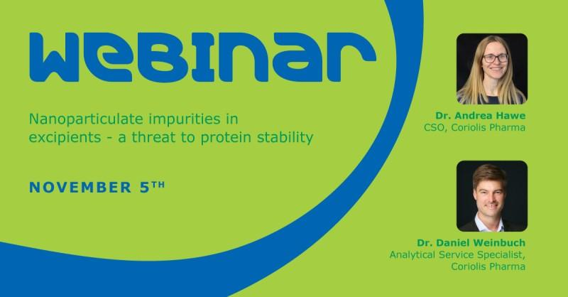 Merck MilliporeSigma Webinar Nanoparticulate Impurities in Excipients - a Threat to Protein Stability by Dr. Andrea Hawe and Dr. Daniel Weinbuch