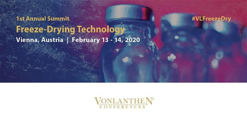 1st annual freeze-drying technology summit, Vienna, 13 - 14 Feb 2020